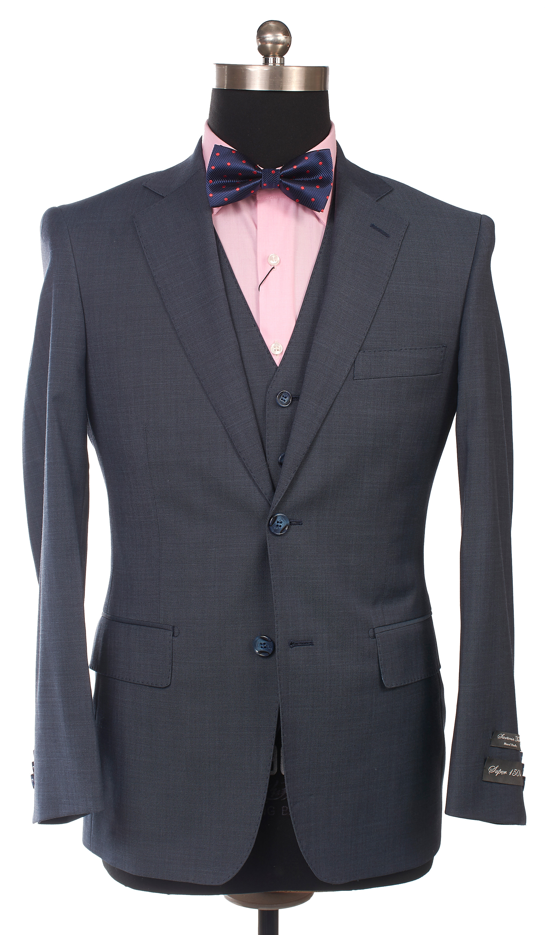 Sartoria Tosi Medium Blue Suit – SRG Fashion
