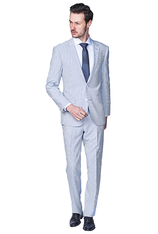 Giovanni Bresciani Seersucker Slim Fit Suit