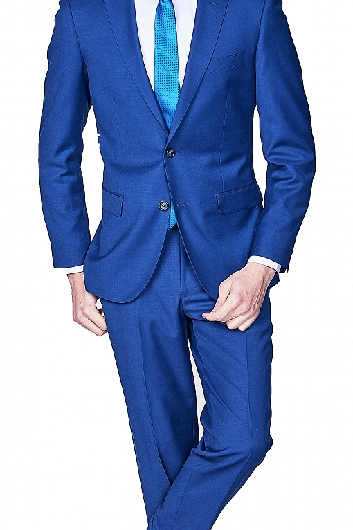Giovanni Bresciani French Blue Sharkskin Suit
