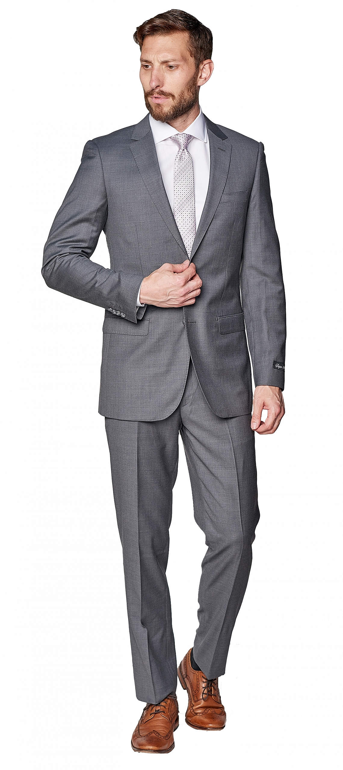Giovanni Bresciani Medium Grey Suit