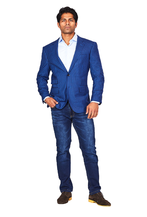 Bresciani Blue Boxes Sport Jacket