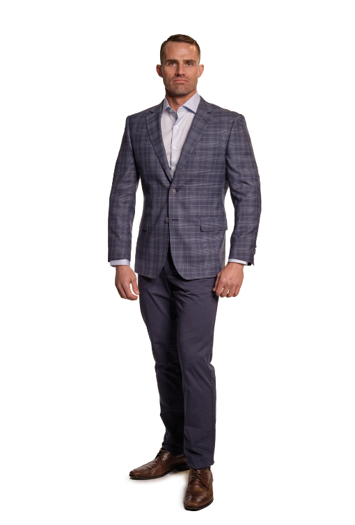 Bresciani Blue Check
