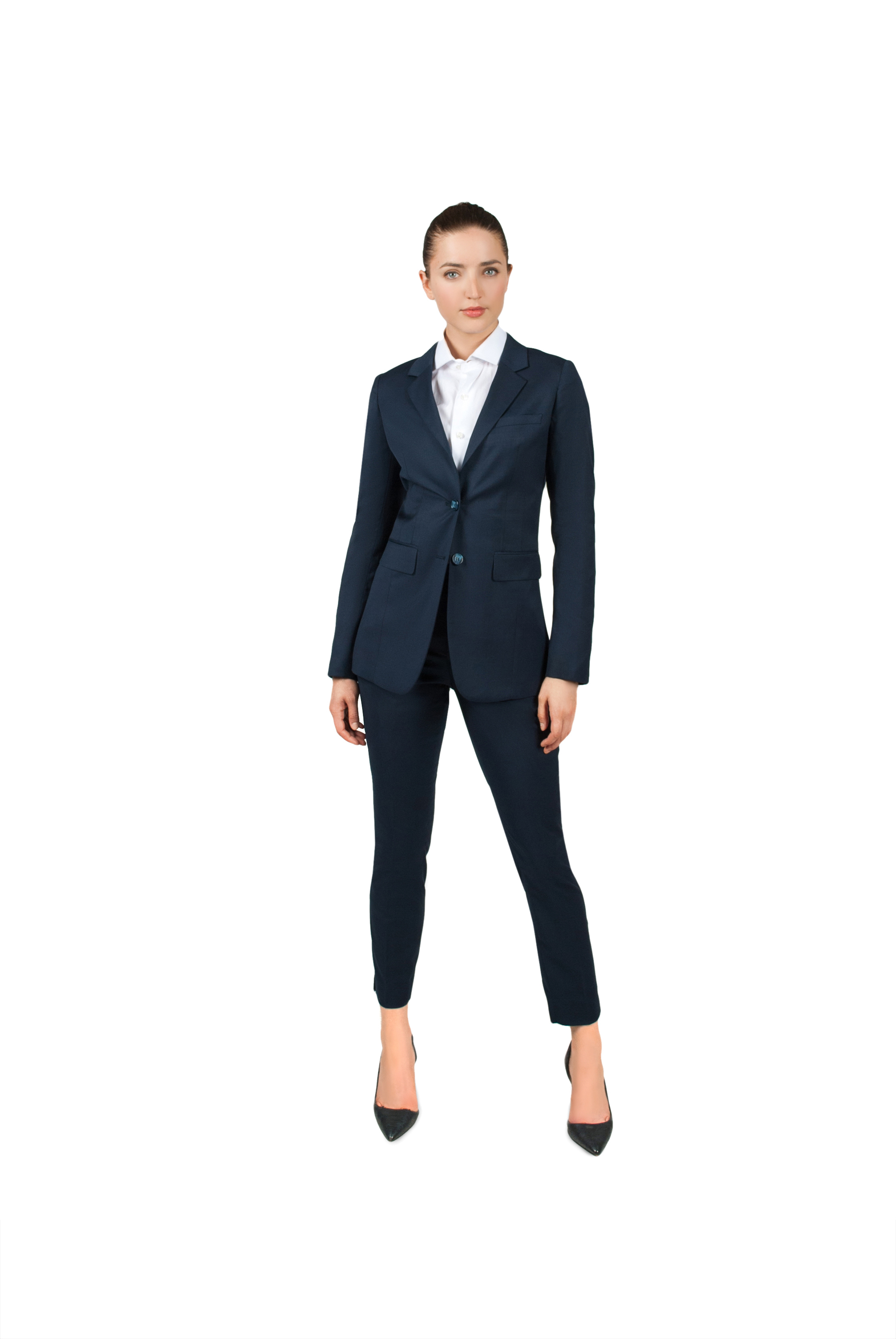 0abe9236ffe Bellezza Navy Blue Women's Suit – SRG Fashion
