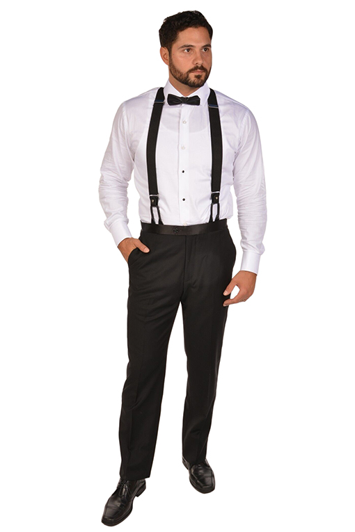Black Suspenders Srg Fashion