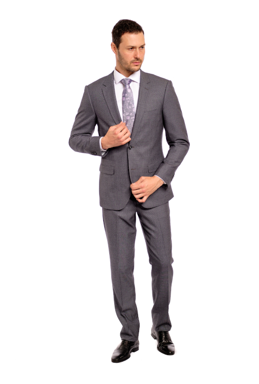 Sharp Grey Nailhead Suit