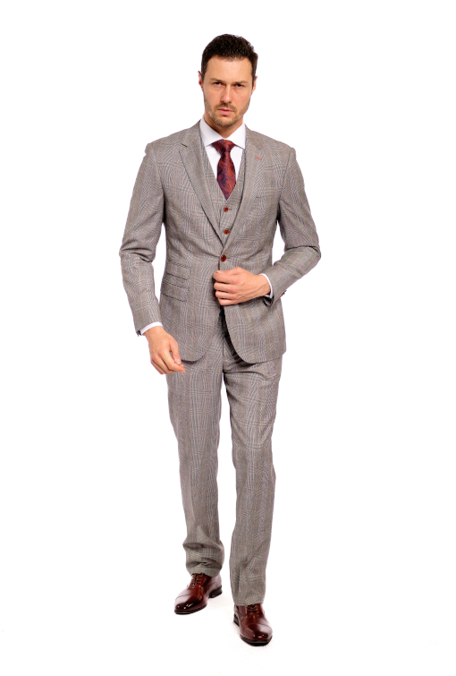 Prince Of Wales 3 Piece Suit