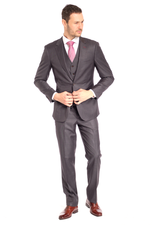 Grey Stunner Stripe 3 Piece Suit