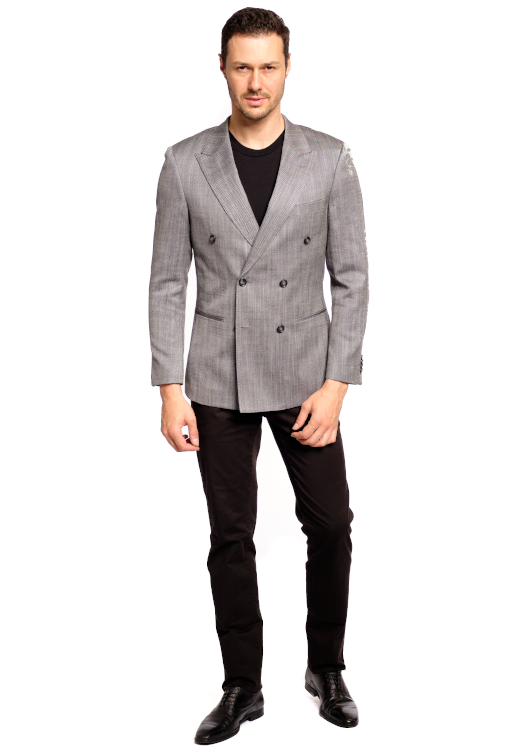 Wool & Silk Herringbone Sport Jacket
