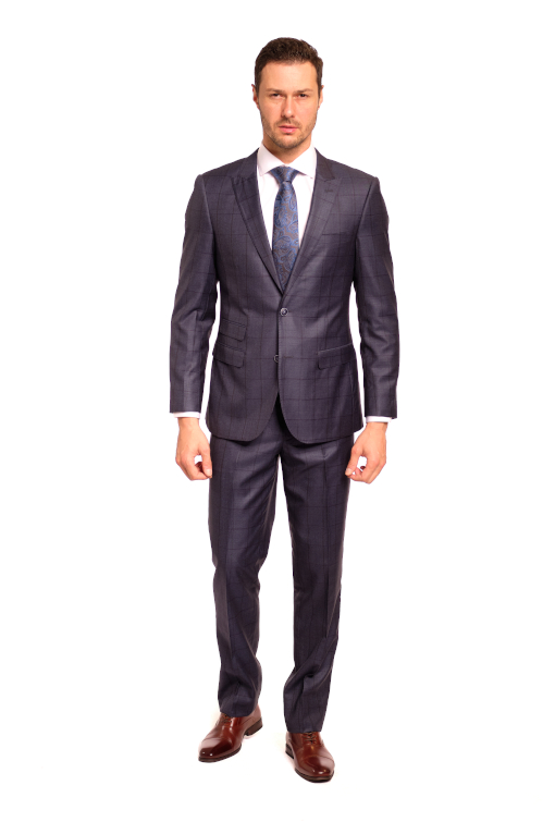 Silk Windowpane Suit