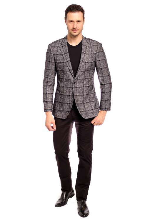 Cashmere Winter Check Sport Jacket
