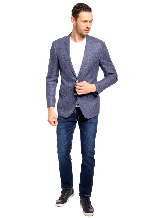 Blue Italian Threads Sport Jacket