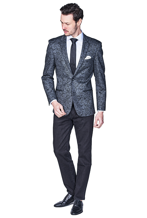 Giovanni Bresciani Grey Black Fancy Sport Jacket