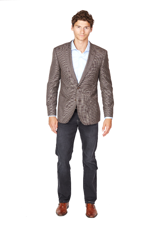 Giovanni Bresciani Brown Tweed Sport Jacket