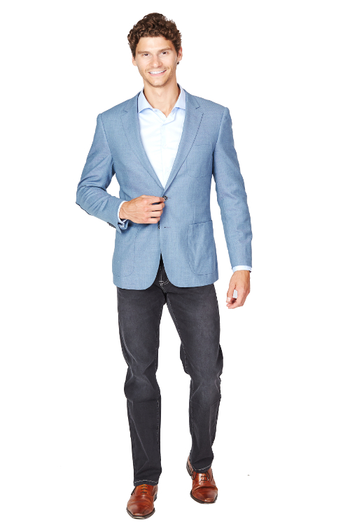 Giovanni Bresciani Lite Blue Tweed Sport Jacket