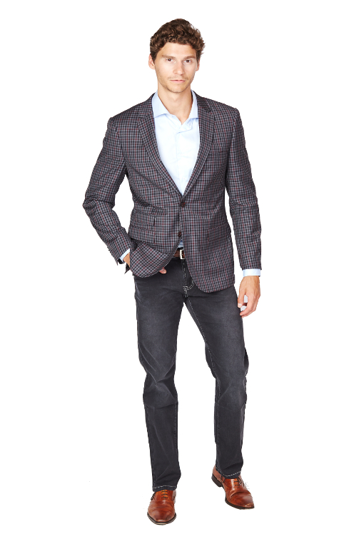 Giovanni Bresciani Grey Boxes Sport Jacket