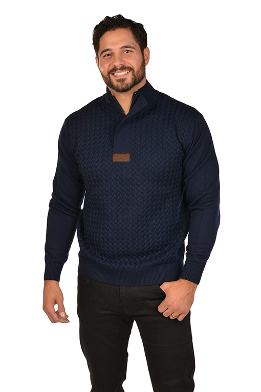 RGB-Cable Navy Sweater