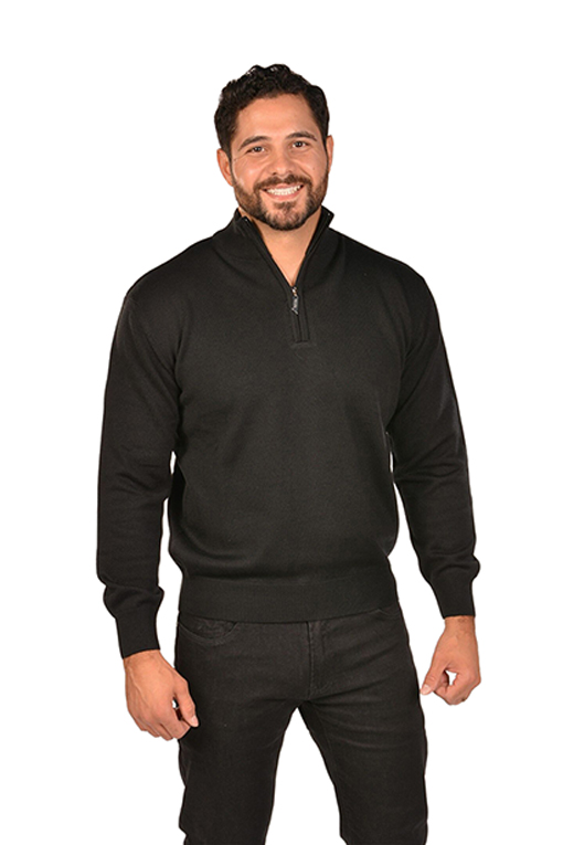 RGB-Half-Zip Black Sweater
