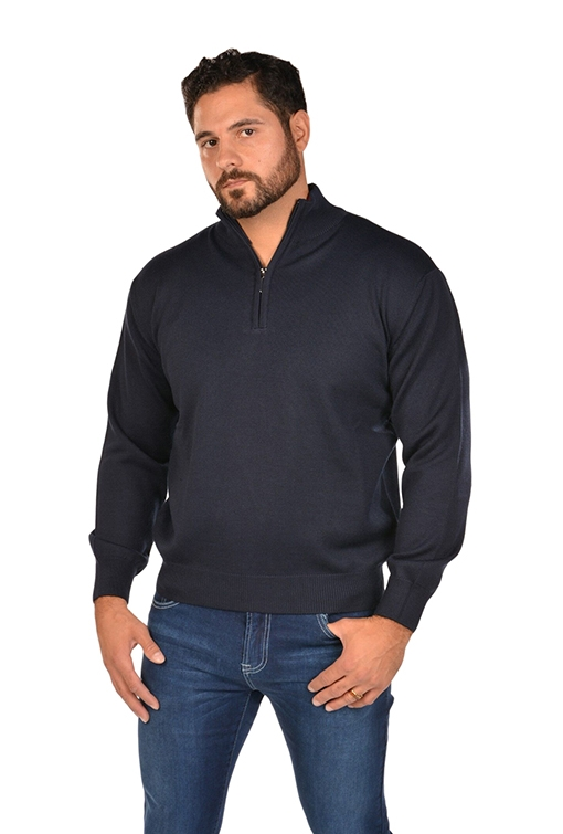 RGB-Half-Zip Navy Sweater