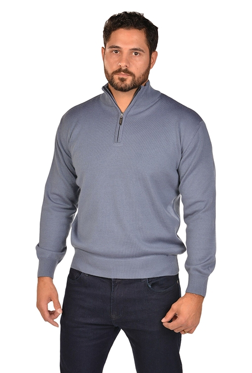 RGB-Half-Zip Slate Sweater