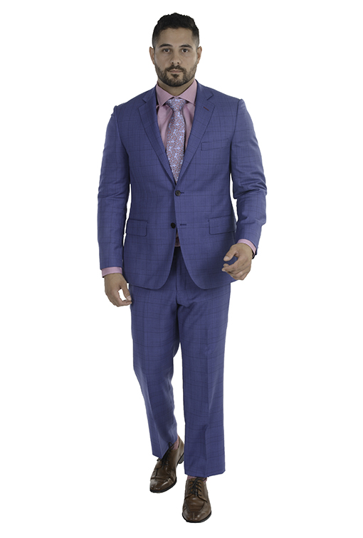 Sartoria Tosi Medium Blue Check Suit