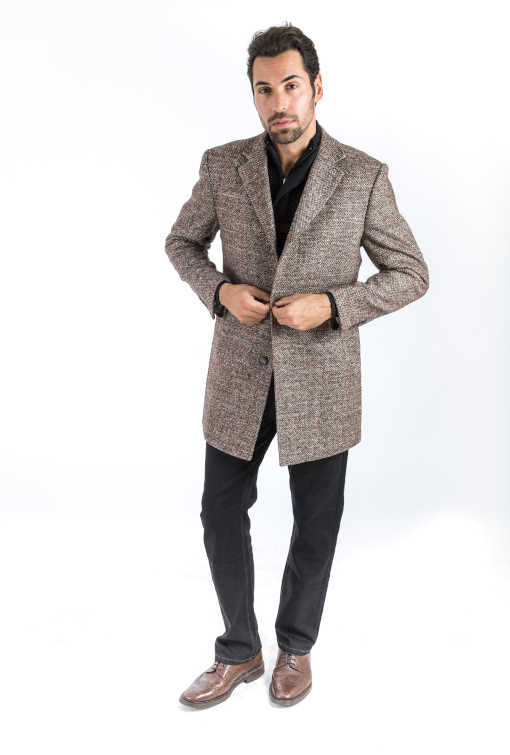 Sartoria Tosi Brown Tweed Overcoat