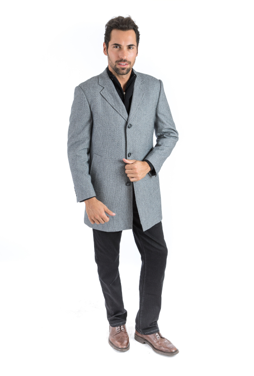 Sartoria Tosi Grey Chains Overcoat