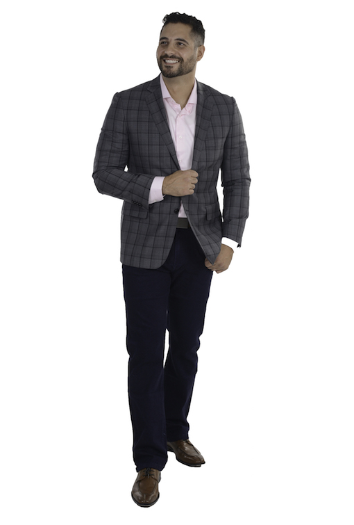 Sartoria Tosi Grey Window Sport Jacket