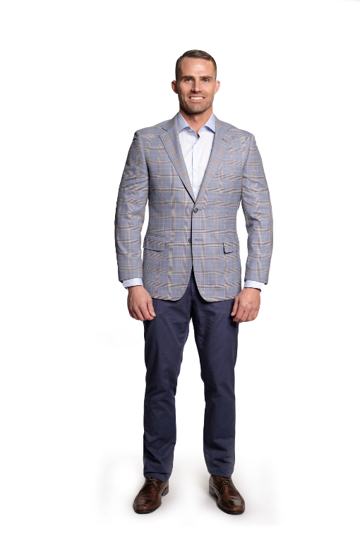 Sartoria Tosi Lite Blue Plaid