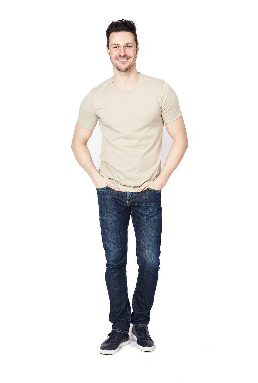 Men's Beige T-Shirt