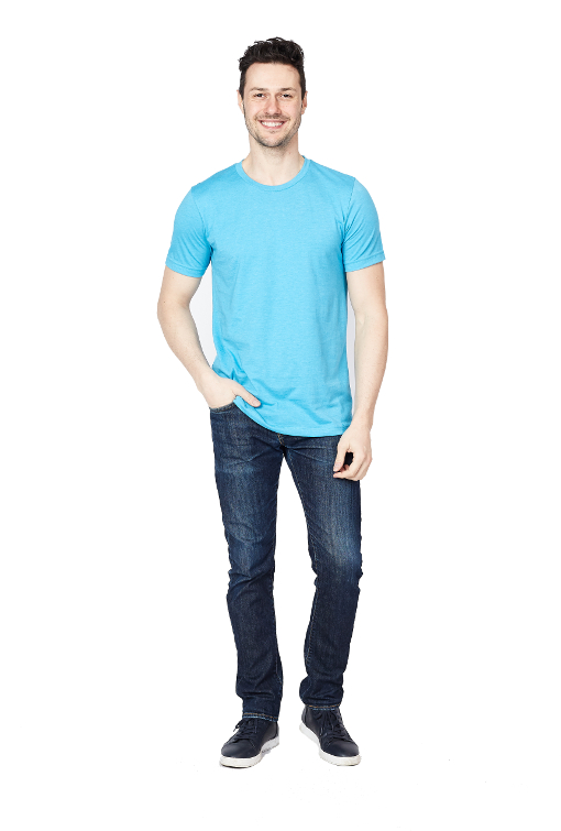 Men's Lite Blue T-Shirt