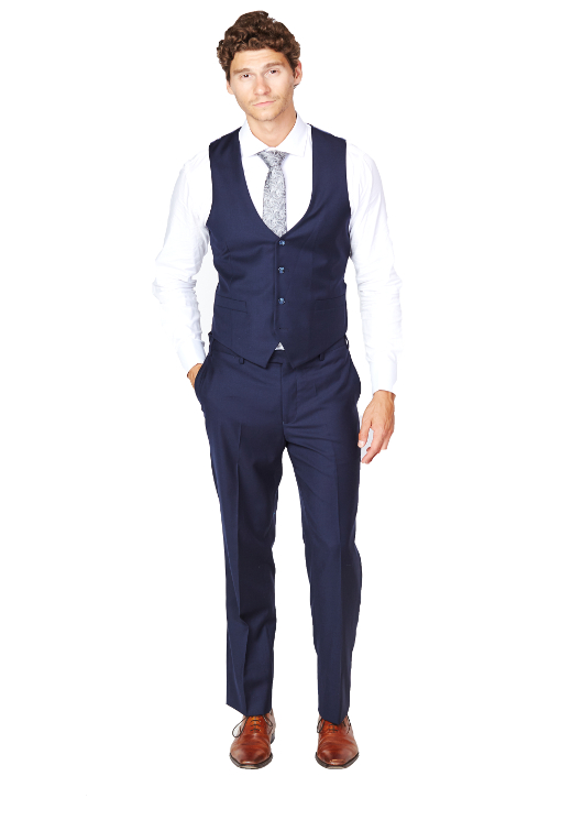 Giovanni Bresciani Low Cut Navy Vest